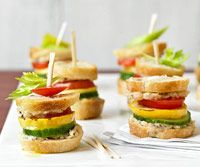 Garden Sliders- appetizers- picnic, shower, wedding, brunch....