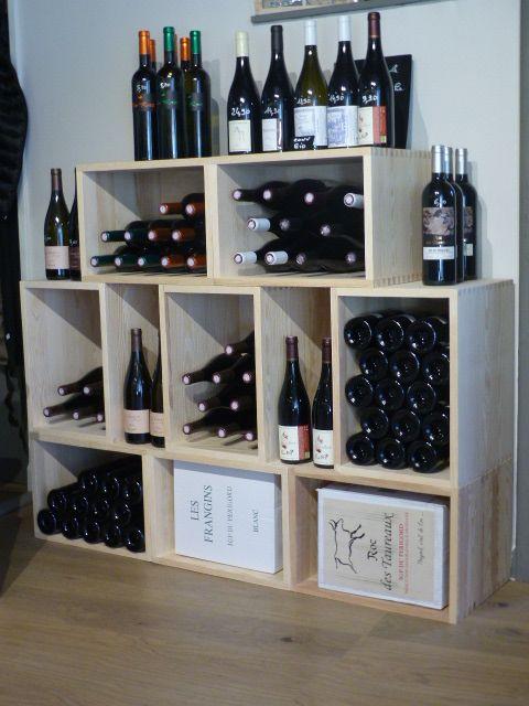 Caisse En Bois Stapel Rangement Vin Rangement Bouteille De Vin Et Casier A Bouteille