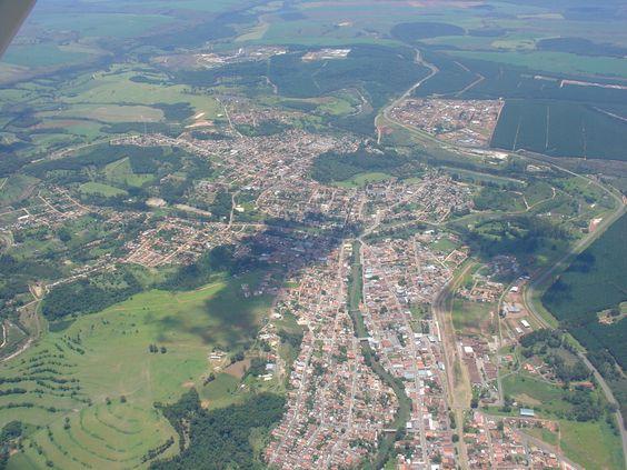 Vista parcial da Cidade de Jaguariaiva, Pr.