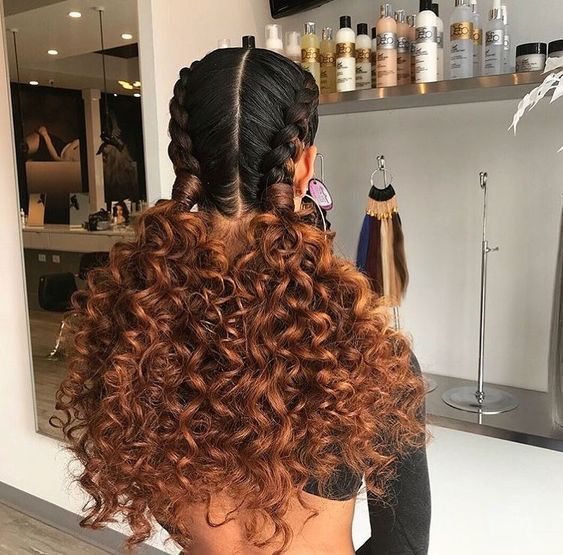 Hairstyles And Hair Color Proposals For Curly Girls In 2020 Natural Hair Styles Curly Hair Styles Naturally Curly Hair Styles