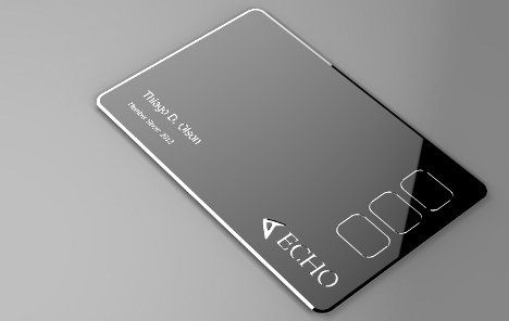 all cards in one, Credit Cards, Protean Echo, future gadget, future device, pay, echo card