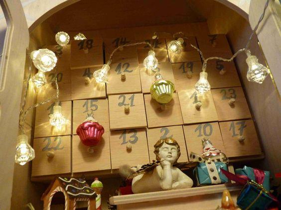 #Adventskalender : #Individuelle Kleinigkeiten statt nur Schokolade sind mit einen #selbstgebastelten Adventskalender möglich... Dekoshop www.helavik.de