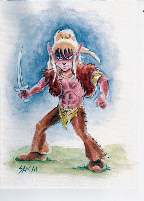 Cutter from #Elfquest done by Stan Sakai.  Elfquest is by Wendy and Richard Pini. www.elfquest.com
