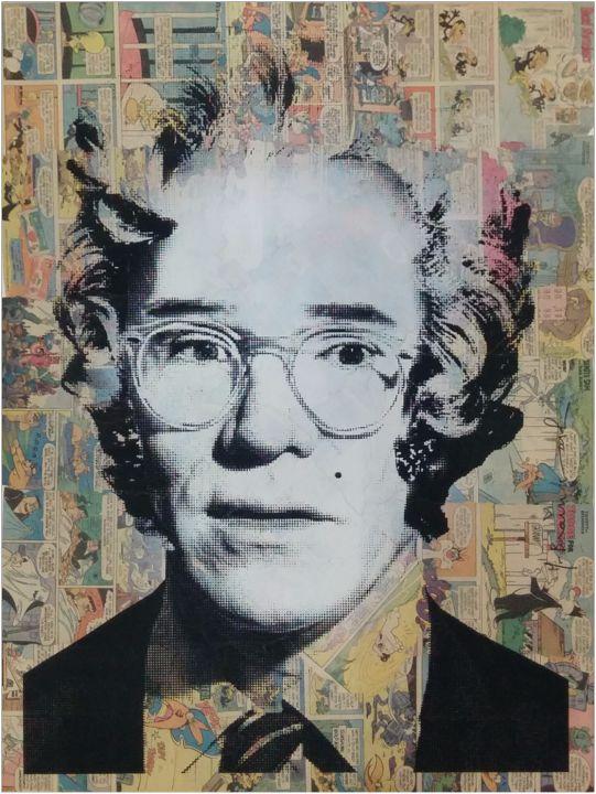 Hierbei handelt es sich um einen handsignierten und per Hand veredelten Pop Art Siebdruck des bekannten Urban Art Künstlers Mr. Brainwash.    Abmessungen: 57cm x 76cm  Material: Siebdruck auf Comic Buch Papier