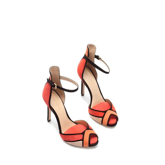 ANKLE STRAP SANDAL - Heeled sandals - Shoes - Woman   ZARA United States