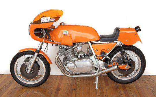 1974 LAVERDA 750 SFC STREET LEGAL PRODUCTION ROAD RACER Frame no. 17160 Engine no. 17160 | US$ 60,000 - 70,000 £40,000 - 46,000. MEGADELUXE