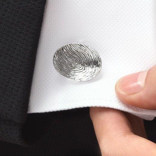 Fingerprint cufflinks I LOVE THESE!