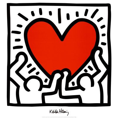 So much love! Heart by Keith Haring.