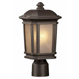 h dark brass post light for a dusk to dawn near the driveway. Black Bedroom Furniture Sets. Home Design Ideas