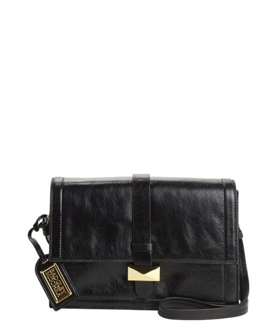 Badgley Mischka : black leather 'Lena' convertible satchel