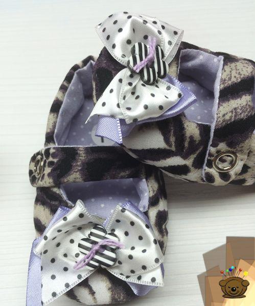 Sapatinho Chanel estampa tigre preto e branco (Ref.1048-s)