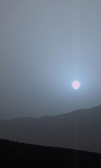 Curiosity rover's blue Mars sunset blows away all your ...