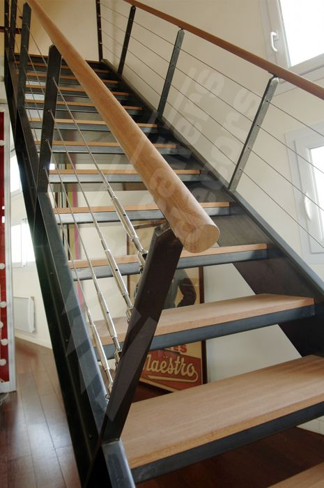 Design escaliers and photos on pinterest - Escalier interieur bois ...