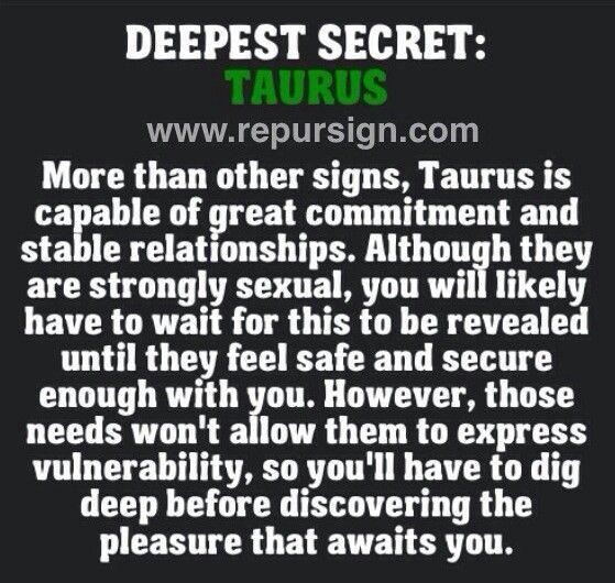 Taurus Deepest Secret