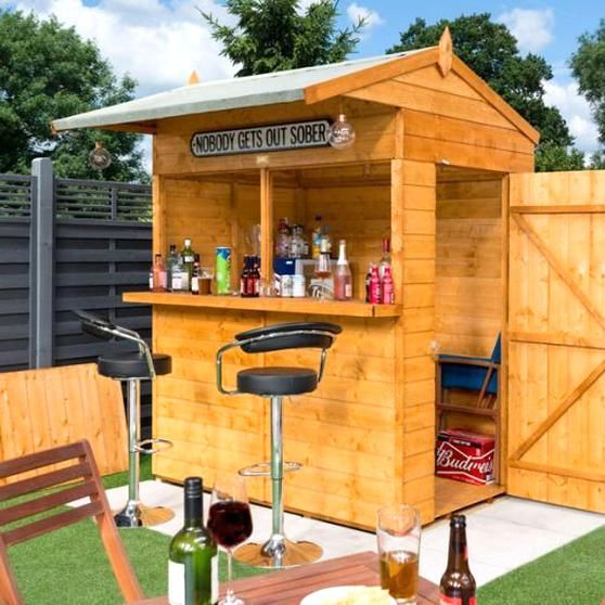 This Rowlinson 6 X 6 Shiplap Garden Bar Shed Is The Perfect Way To Wind Down And Relax On A Perfect Summers Day It In 2020 Garden Bar Shed Bar Shed Outdoor Garden Bar