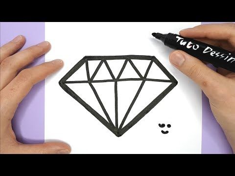 Tuto Dessin Dessin Kawaii Et Facile A Faire Youtube Comment Dessiner Diamant Dessin Dessin