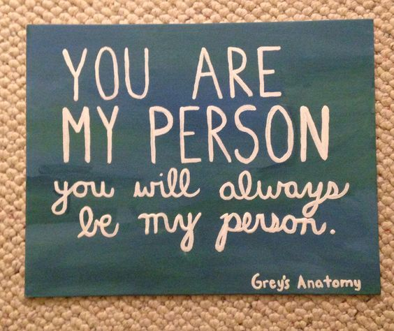 Friend Quotes On Canvas : Best friend grey s anatomy quote crafts