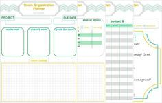 Get organized with a free Room Organization Planner printable!