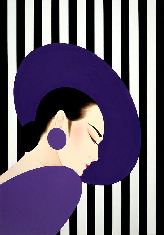 Шляпки бывают разного толка... Художник Ichiro Tsuruta (Ичиро Цурута-鶴田一: eva_k2