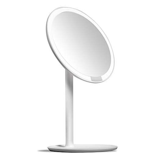 Amiro Lighted Makeup Mirror With Natural Daylight Led Lights Adjustable Brightness Rechargeable And Cordless Hig Makeup Mirror With Lights Mirror Led Mirror