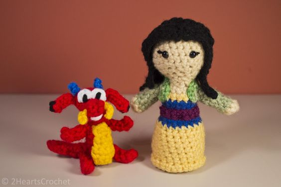 Amigurumi Disney Gratis : Mulan and mushu free crochet disney pinterest