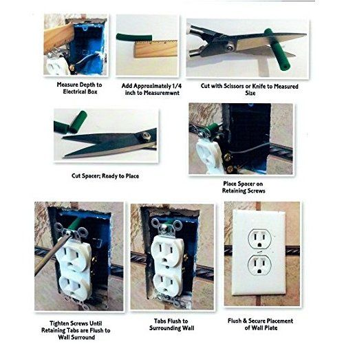 Effortless Electrical Box Outlet And Socket Spacers Diy Electrical Electricity Electrical Outlets