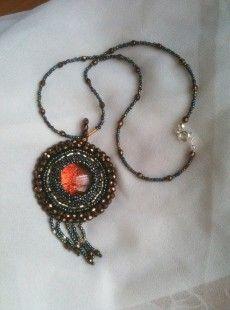 Mon premier projet en broderie de perles!!!!