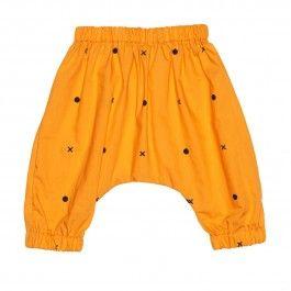 Babble Pants Orange / Baggy Pants orange mit schwarzem Print
