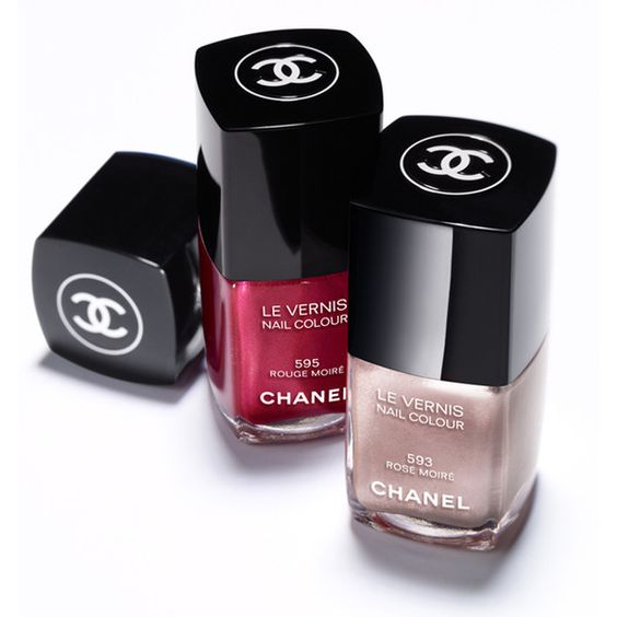 Chanel Rouge Allure Moire Makeup Collection for Autumn 2013 ❤ liked on Polyvore featuring beauty products, nail care, nail polish, makeup, beauty, chanel, nails, fillers, chanel nail colour and chanel nail lacquer