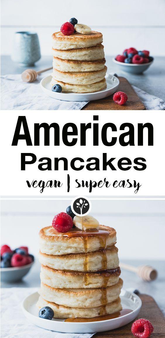 American Pancakes Rezept Lebensmittel Essen Amerikanische Pfannkuchen Und Vegane Pfannkuchen