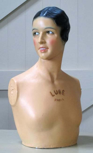 A French plaster shop mannequin,