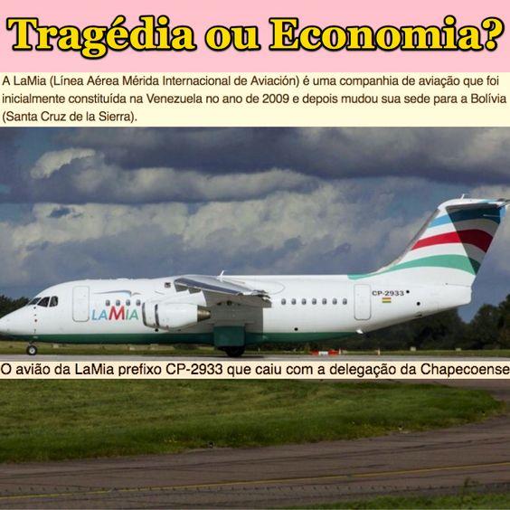 Tragédia ou Economia? [G1] http://g1.globo.com/mundo/noticia/2016/11/aviao-com-equipe-da-chapecoense-sofre-acidente-na-colombia.html ②⓪①⑥ ①① ②⑨: