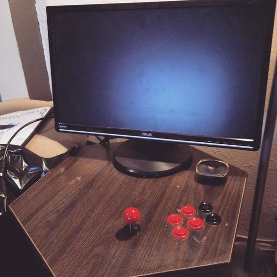 Something we loved from Instagram! Got another $15 end table. This one is going to be a 2 player cocktail style mame cabinet and eventually mount a smaller display  flat inside. #RaspberryPi #PiMame #mame by thestickkid Check us out http://bit.ly/1KyLetq