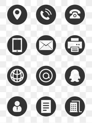 Icon Phone Icon Qq Icon Web Icon Design Advertising Design Ai Pattern In 2020 Business Card Icons Vector Business Card Website Icons