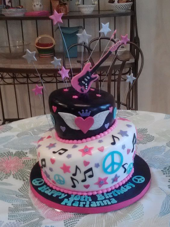 rockstar birthday cakes | In: rock star cake in album: Children's Birthday Cakes