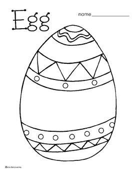 Easter Coloring and Egg crafts on Pinterest