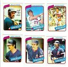 LOS ANGELES Angels TOPPS 1980 BASEBALL CARD LOT