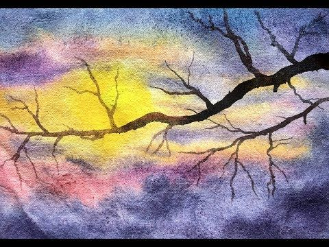 188 Simple And Easy Landscape Painting With Watercolor Youtube Easy Landscape Paintings Painting Landscape Paintings