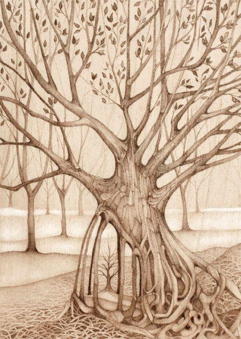 tree art landscape forest - safe keeping  # Lauren Gray