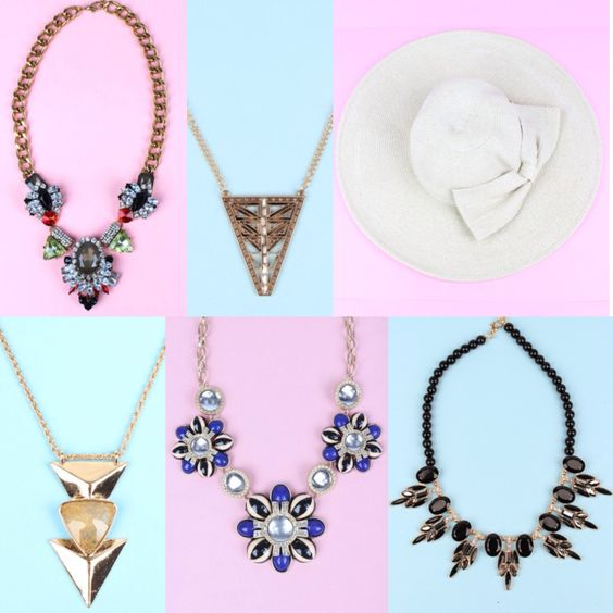 Make a statement in one of the new arrivals at sophieandtrey.com! Prices range from $12.99 to $24.99! #sophieandtrey #statement #jewelry #accessories #hat #necklace