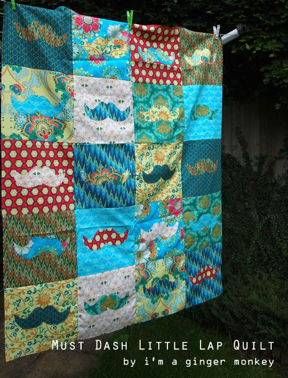 Fat Quarter Gang - Must Dash Little Lap Quilt by I'm A Ginger Monkey  #FatQuarterGang #AGF
