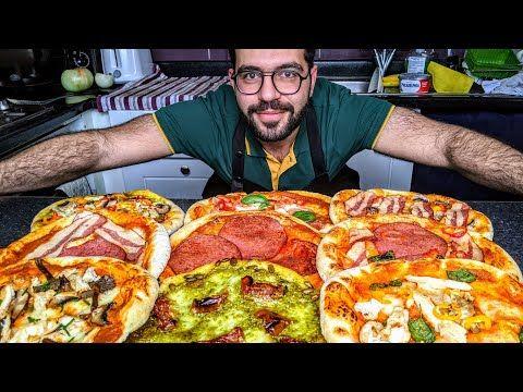 بيتزا الإيطالية الأصلية في البيت مع 10 خلطات مختلفة شيف شاهين Youtube Cooking Recipes Cooking Recipes