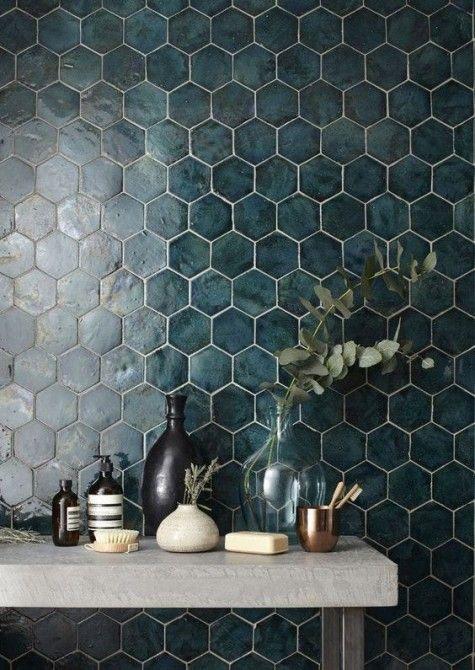 29 Trendy Hexagon Tile Ideas For Bathrooms Comfydwelling Com Trendy Hexagon Tile Ideas Bathrooms Tile Trends Bathroom Tile Designs Home Interior Design