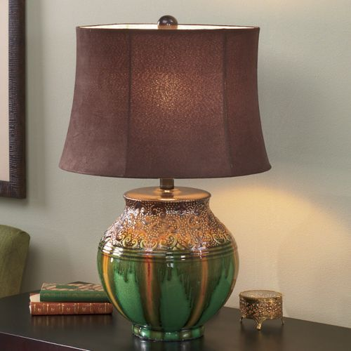 Glazed Ceramic Table Lamp From Seventh Avenue