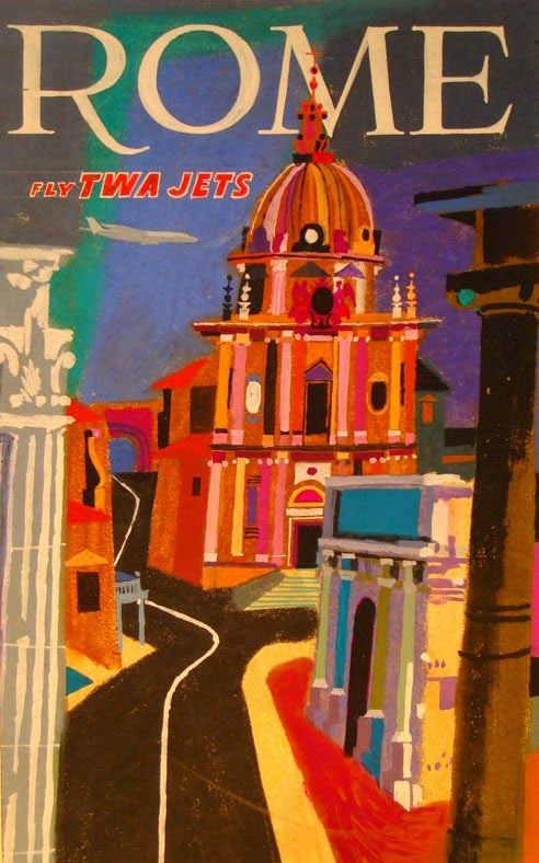 Rome Italy Vintage Travel Posters Vintage Airline Posters Travel Posters