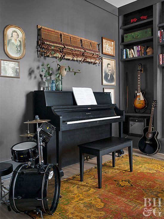 Adding Charm To A Modern Farmhouse Home Music Rooms Music Room Design Music Room Decor