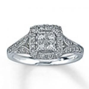 Romantic and Beautiful Diamond Engagement Ring
