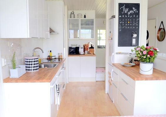 cuisine blanche et bois house home pinterest