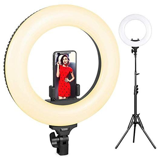 Ring Light Esddi 14inch Outer Adjustable Color Temperature 3200k 5600k With Stand Youtube Makeup Dimm Led Light Kits Ring Light With Stand Led Ring Light