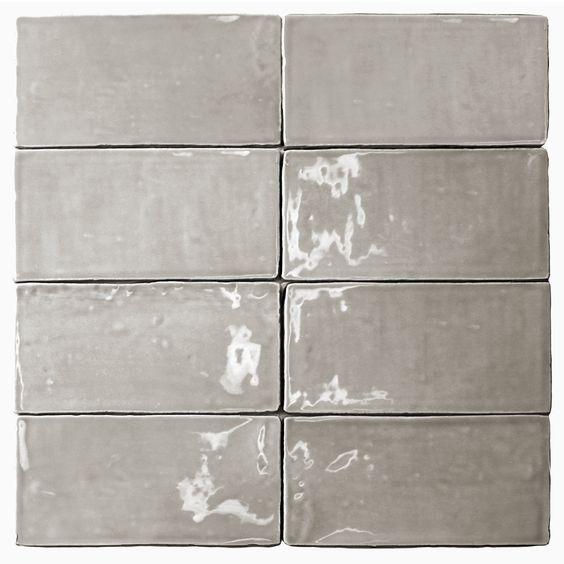 Lancaster 3x6 Dove Polished Ceramic Tile